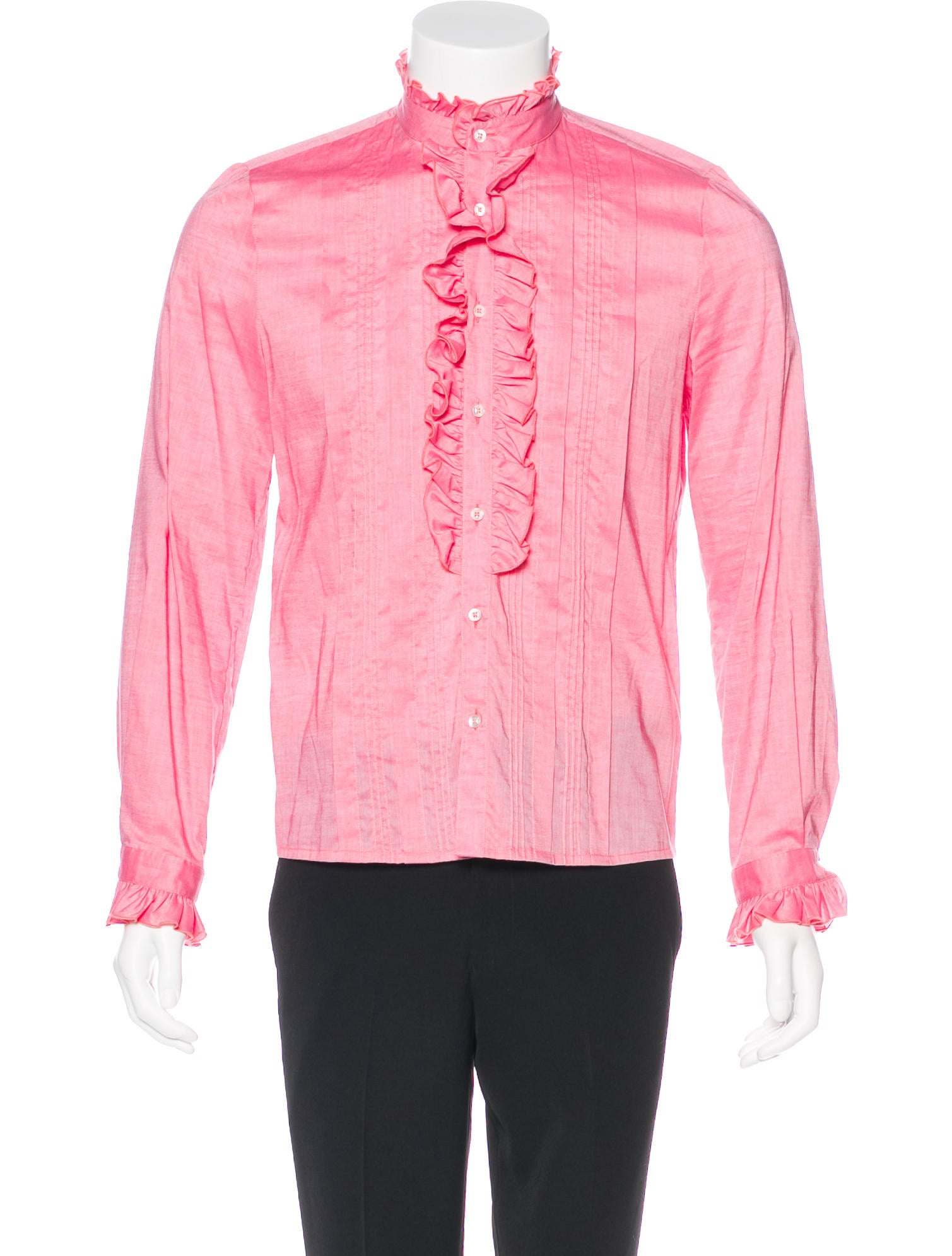 Gucci Ruffled Button Up Shirt Clothing Guc180564 The
