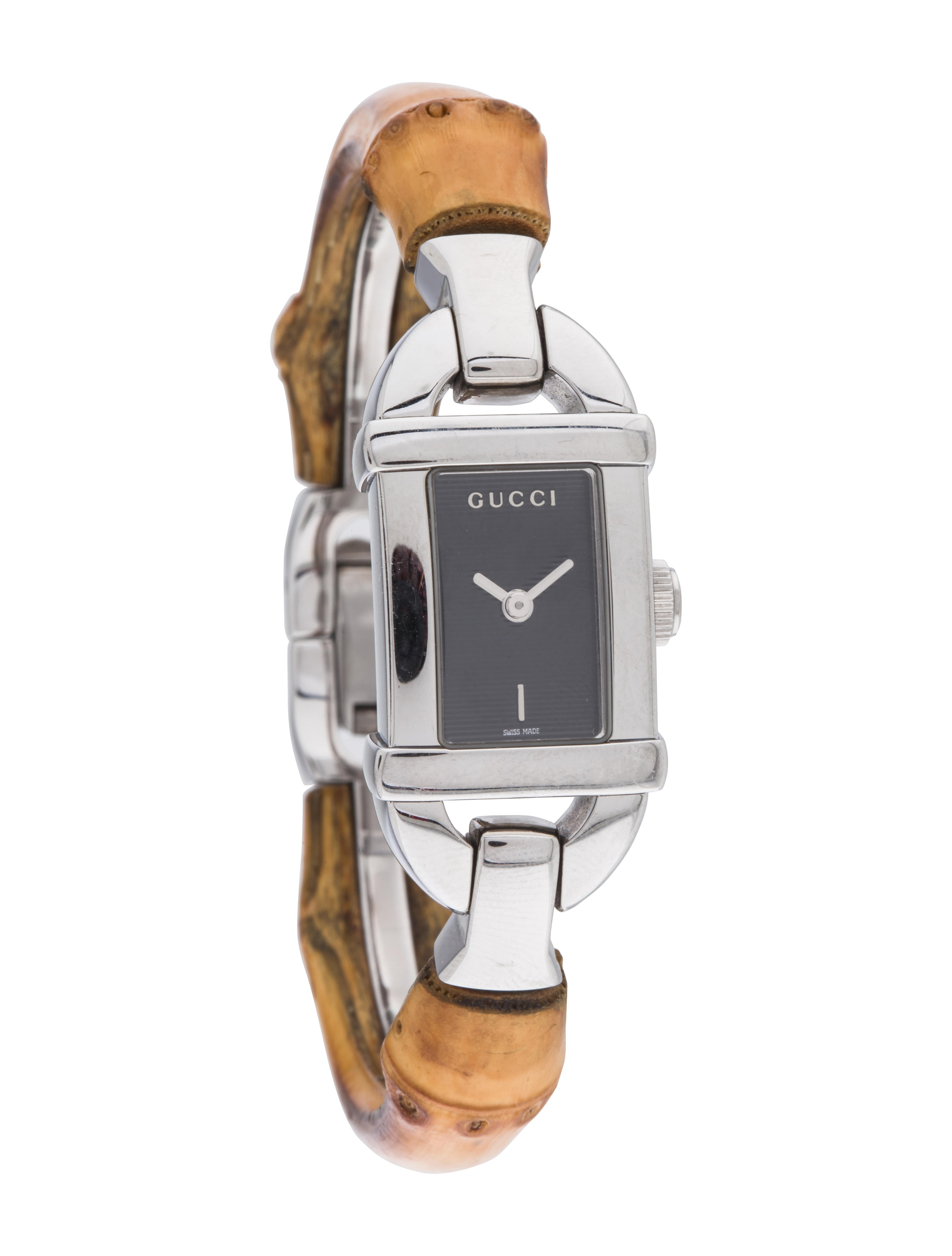 3a0bf10722a Gucci 6800L Bamboo Watch - Bracelet - GUC180945