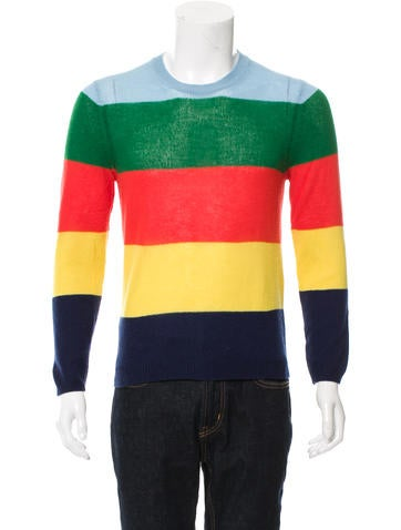Gucci Striped Cashmere Sweater None