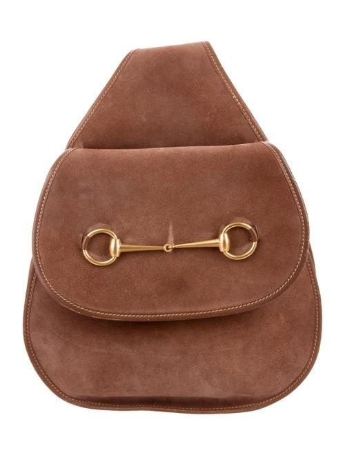 b50586a4d999bf Gucci Vintage Horsebit Crossbody Backpack - Handbags - GUC181230 ...