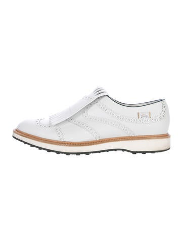 Gucci Kiltie Brogue Golf Shoes None