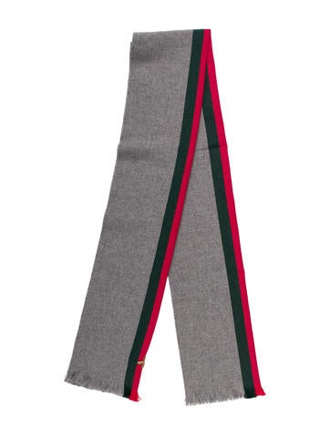 Gucci 2017 Web Bee Wool-Blend Scarf None