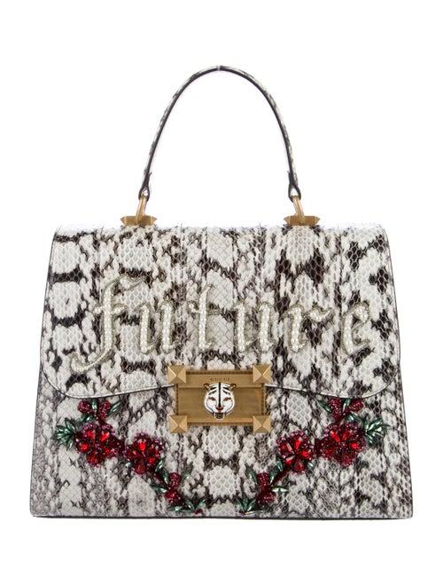 84f53e8e0e Gucci 2017 Osiride Future Snakeskin Medium Top Handle Bag - Handbags ...