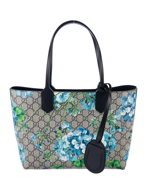 00619f28043c Gucci Small Reversible GG Blooms Tote w/ Tags - Handbags - GUC182263 ...