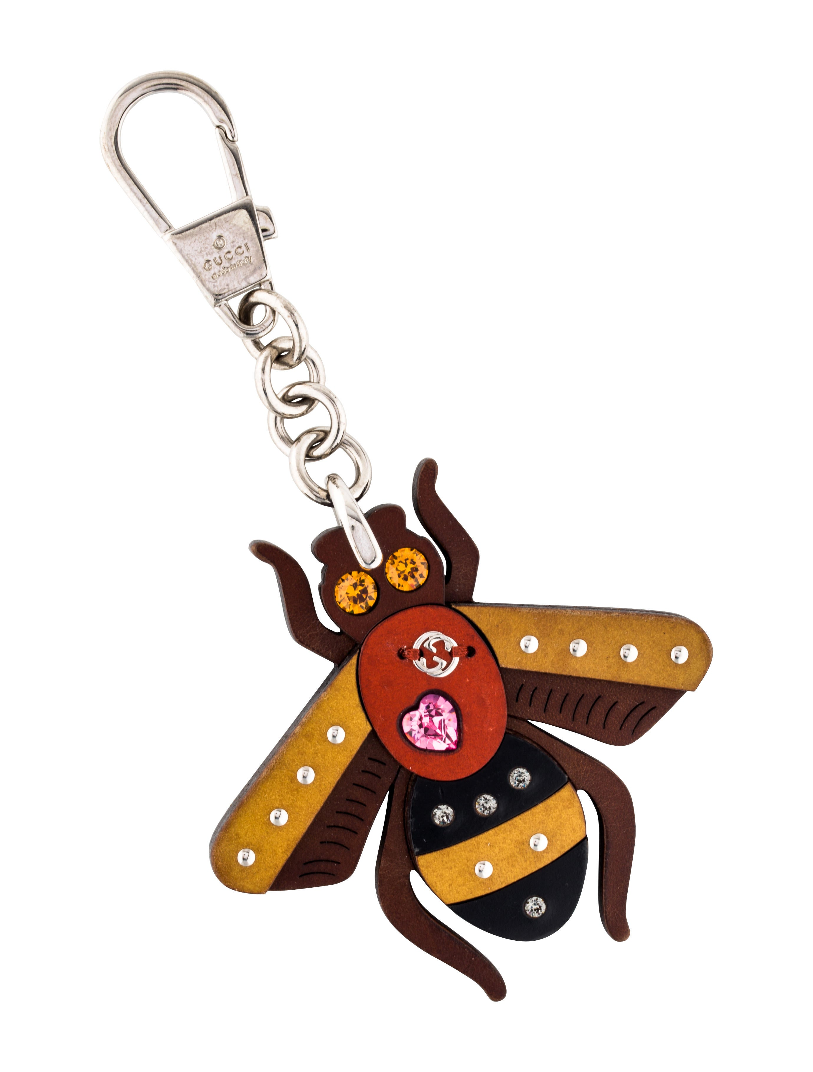 310107bbb52 Gucci Embellished Bee Bag Charm - Accessories - GUC182612
