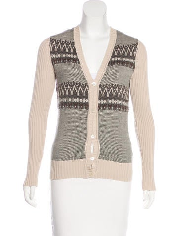 Gucci Wool Patterned Cardigan None