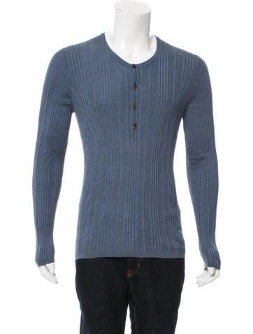 Gucci Silk Henley Sweater w/ Tags None
