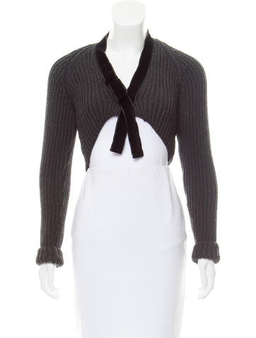 Gucci Cropped Virgin Wool Cardigan None