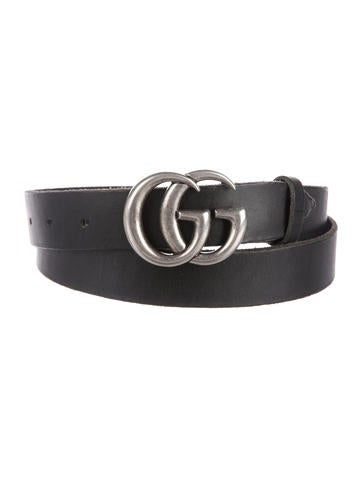 Gucci Leather GG Running Buckle Belt None