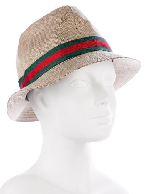 2a9f14624960 Gucci Web-Accented Fedora Hat - Accessories - GUC184720