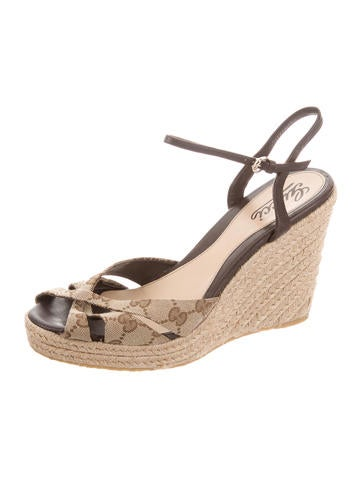 22eaef115a2e5d Gucci GG Espadrille Wedges - Shoes - GUC184785