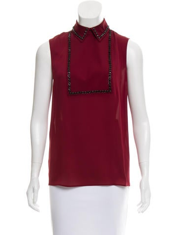 Gucci Beaded Sleeveless Top None