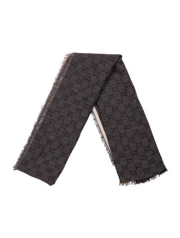 Gucci Wool & Silk-Blend GG Scarf None