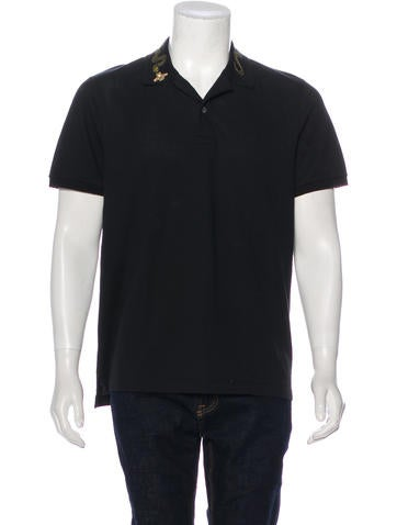 Gucci Kingsnake Embroidered Polo Shirt None