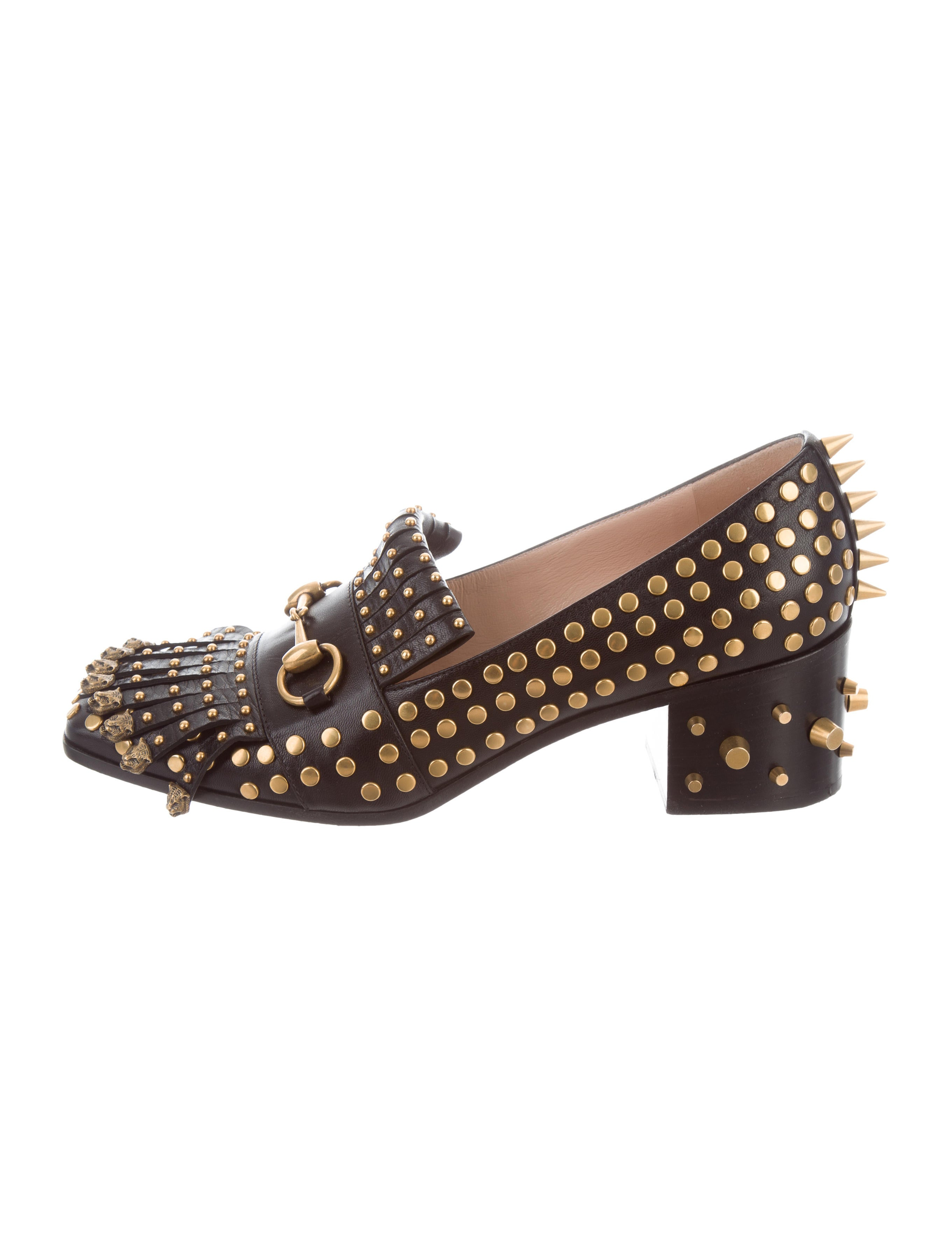 64afeb11ae5 Gucci Polly Studded Loafers - Shoes - GUC185539