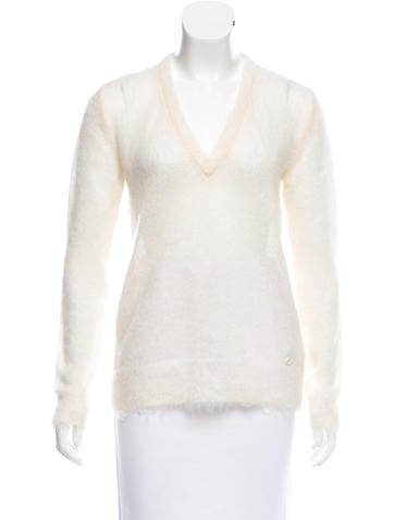 Gucci Mohair V-Neck Sweater None