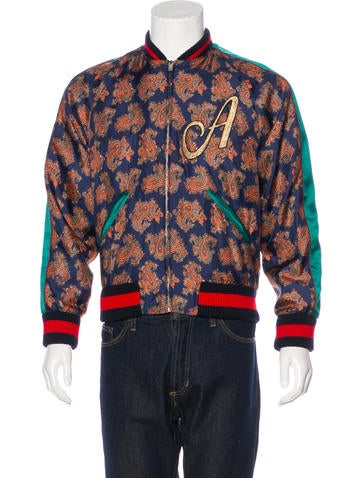 Gucci 2017 Paisley Embroidered Souvenir Jacket None