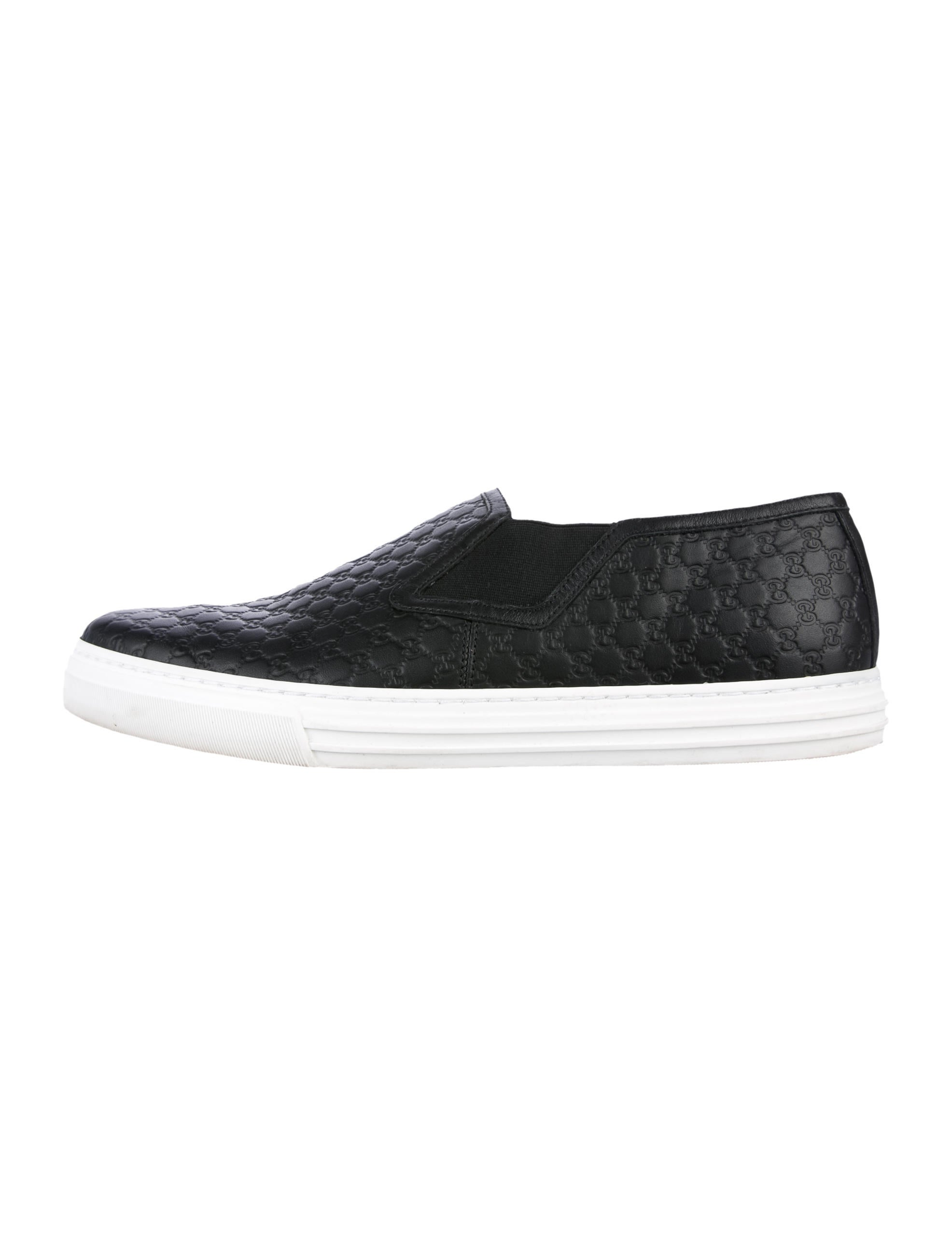 902d37394 Gucci Microguccissima Slip-On Sneakers - Shoes - GUC186114 | The ...
