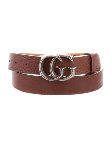 Gucci Leather GG Belt None