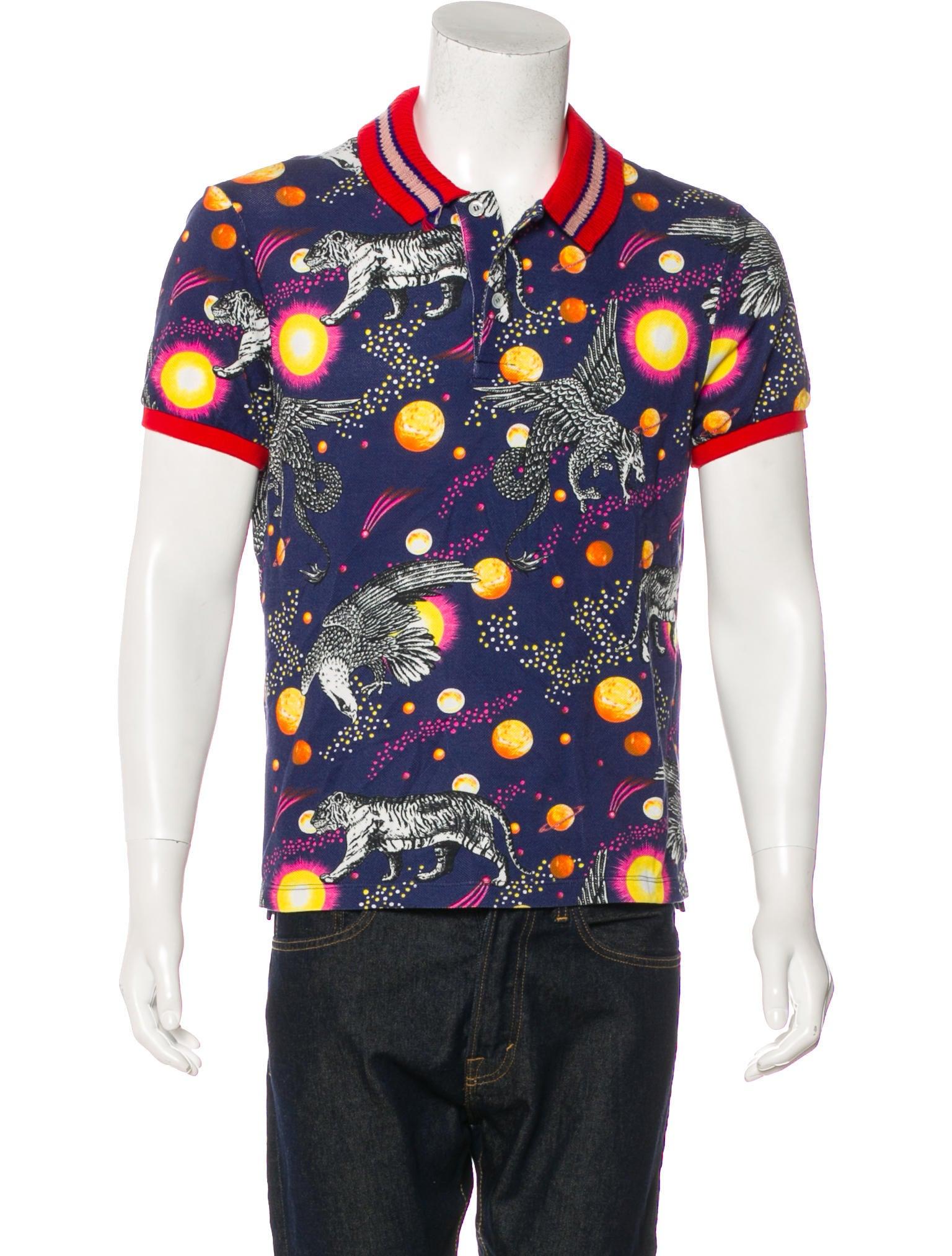767c6103084106 Gucci 2017 Space Tiger Print Polo Shirt - Clothing - GUC186389   The ...