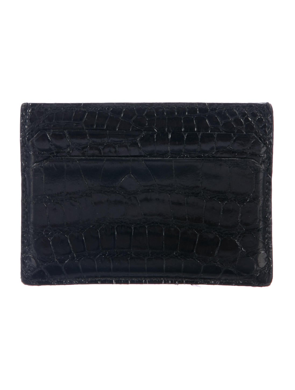 Gucci Crocodile Card Case - Accessories - GUC186476 | The RealReal