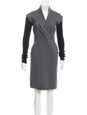 Gucci Knit-Trimmed Mini Dress None