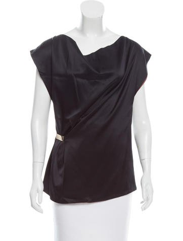 Gucci Sleeveless Silk Top None