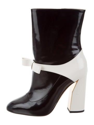 Gucci Colorblock Bow Boots None