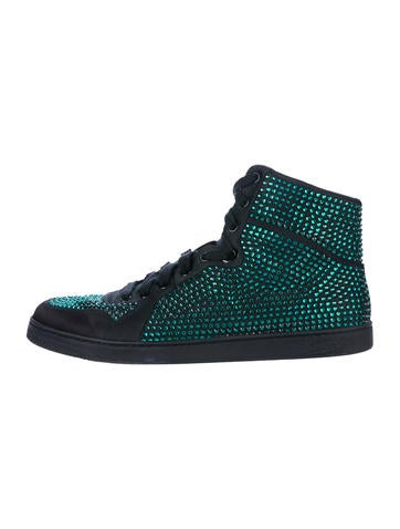 Gucci Crystal High-Top Sneakers None