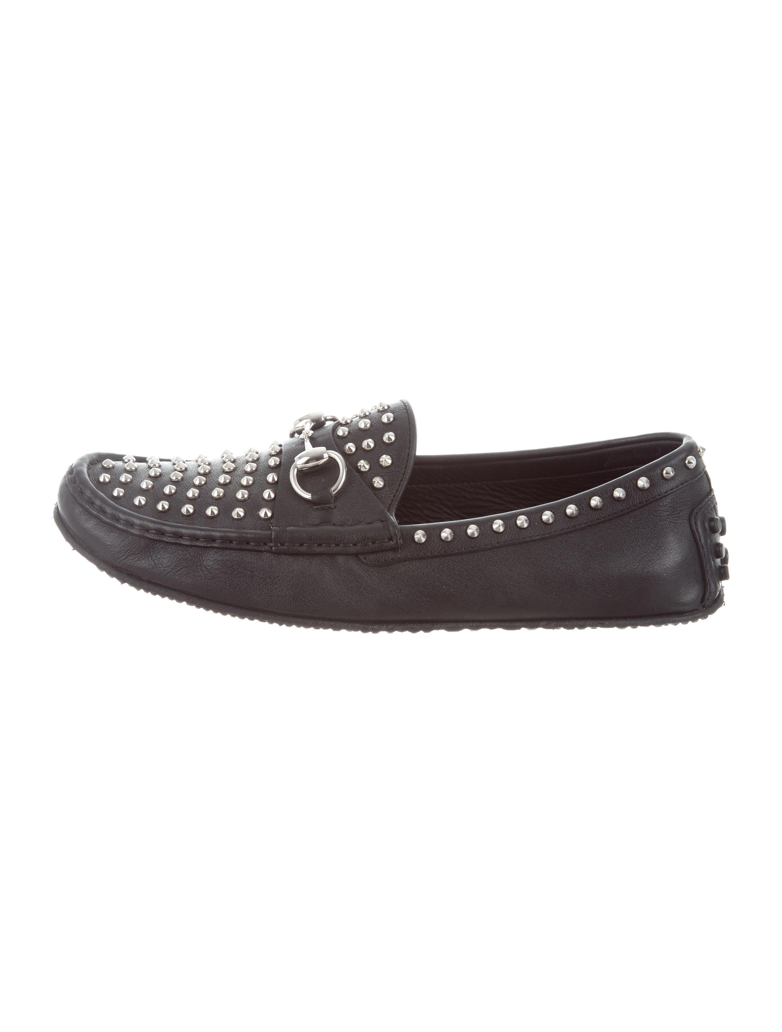 e30a9894e81 Gucci Horsebit Spike-Embellished Loafers - Shoes - GUC188049