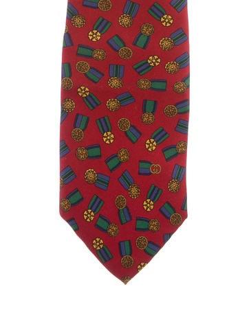 Gucci Medal Silk Tie None