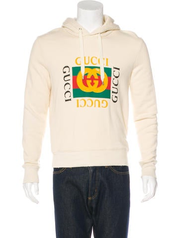 Gucci GG Web-Trimmed Distressed Hoodie None