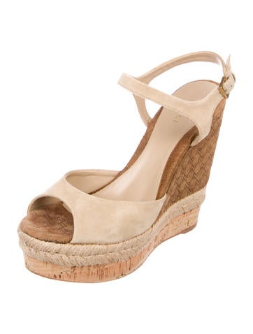 4771dd5edfd3ad Gucci Suede Espadrille Wedges - Shoes - GUC188848