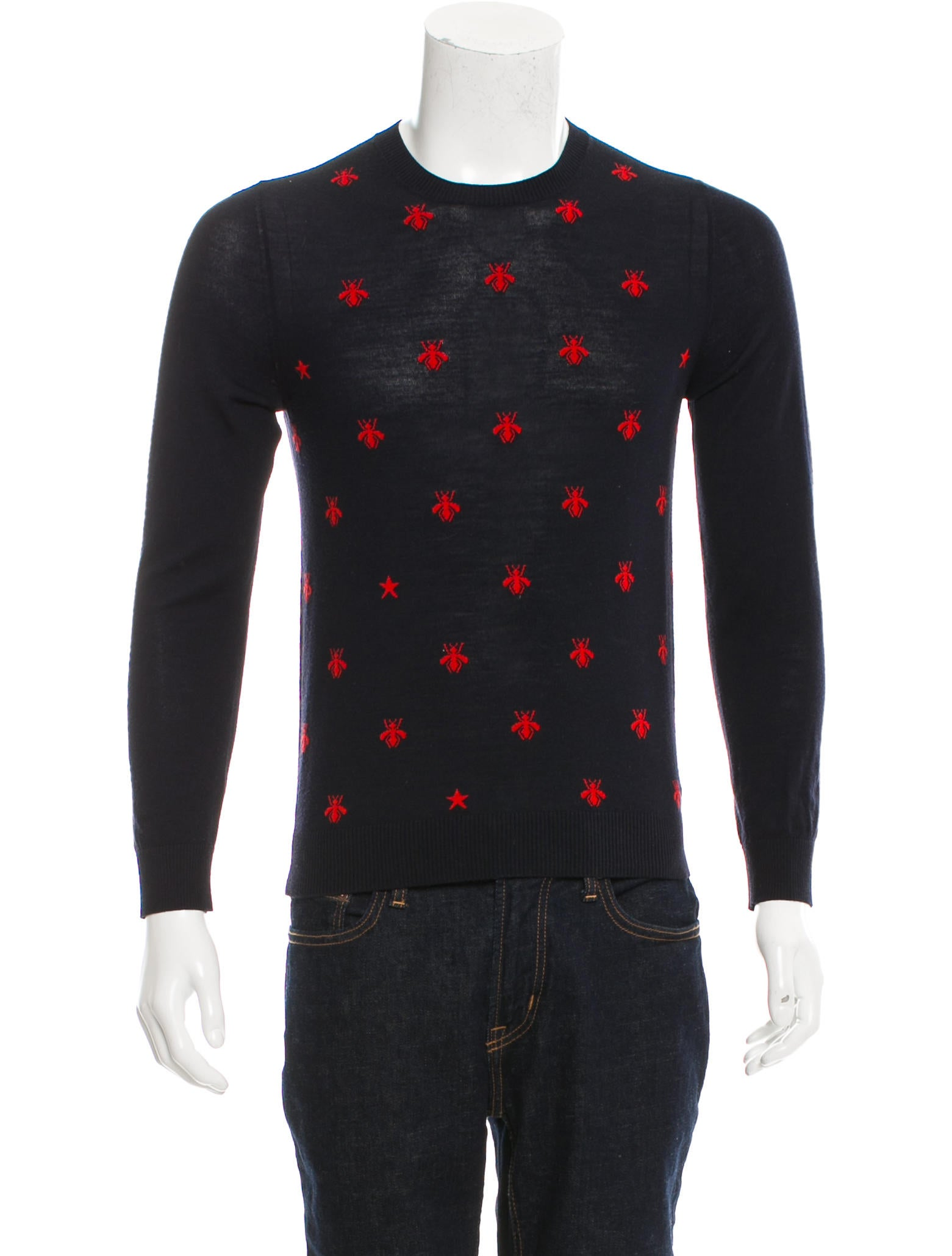 gucci 2018 patterned wool crewneck sweater clothing guc188853
