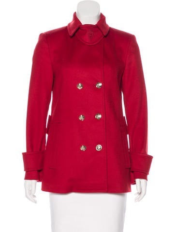 Gucci Wool Double-Breasted Coat None