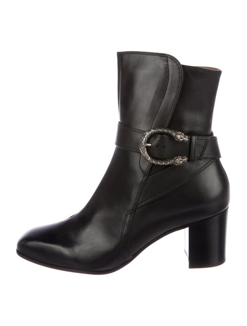 44e3031a797 Gucci Dionysus Leather Square-Toe Ankle Boots - Shoes - GUC190371 ...