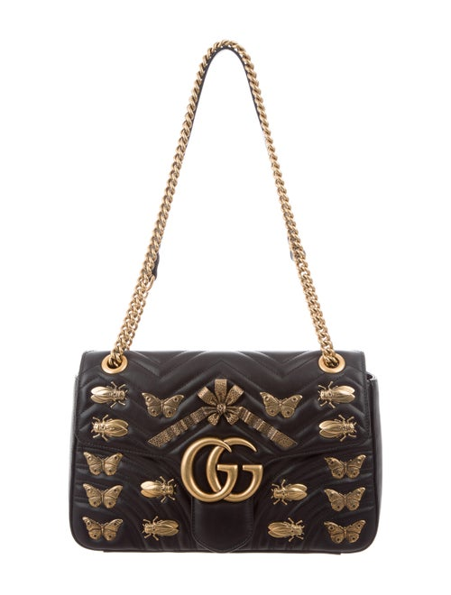 862c1eb366c33d Gucci Medium GG Marmont 2.0 Animal Stud Matelassé Bag - Handbags ...