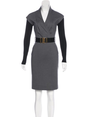 Gucci Wool Knee-Length Dress None