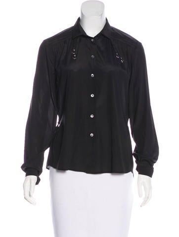 Gucci Collared Button-Up Top None