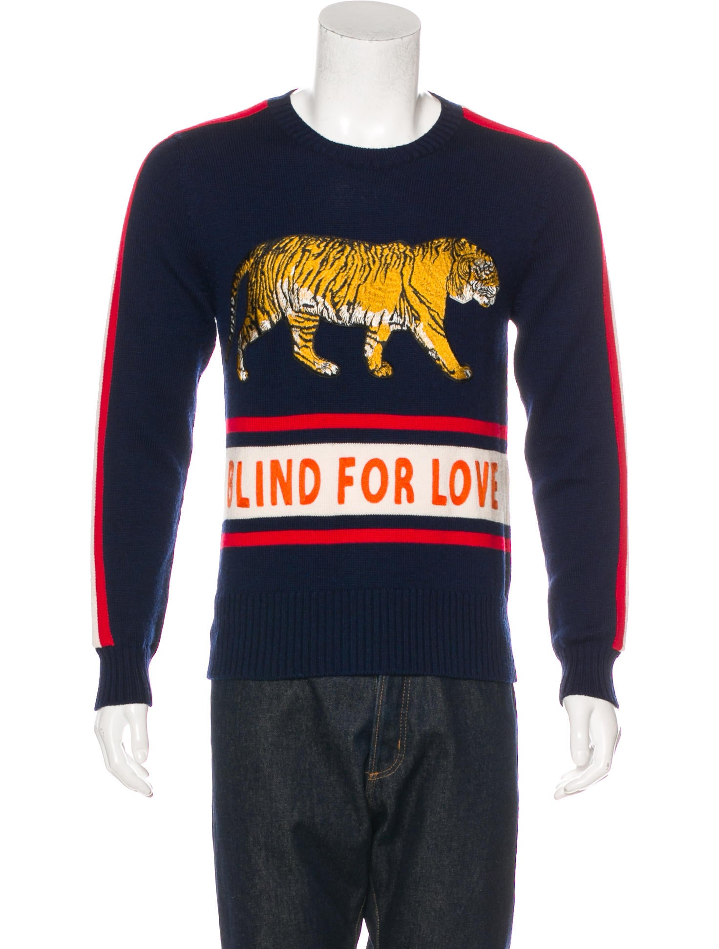 485bcafe81a3 Gucci 2017 Wool Blind For Lover Sweater - Clothing - GUC191588 | The ...