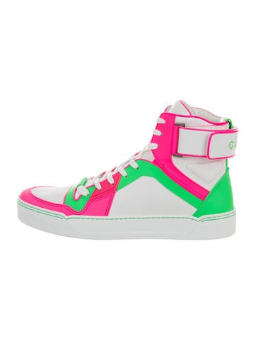 Gucci Leather High-Top Sneakers w/ Tags None