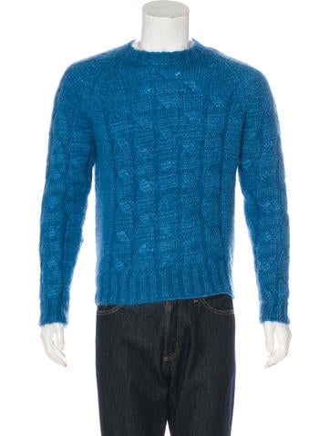 Gucci Mohair Silk Cable Knit Sweater None