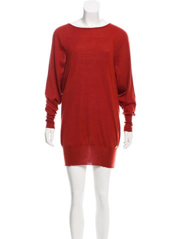 Gucci Long Sleeve Sweater Dress None