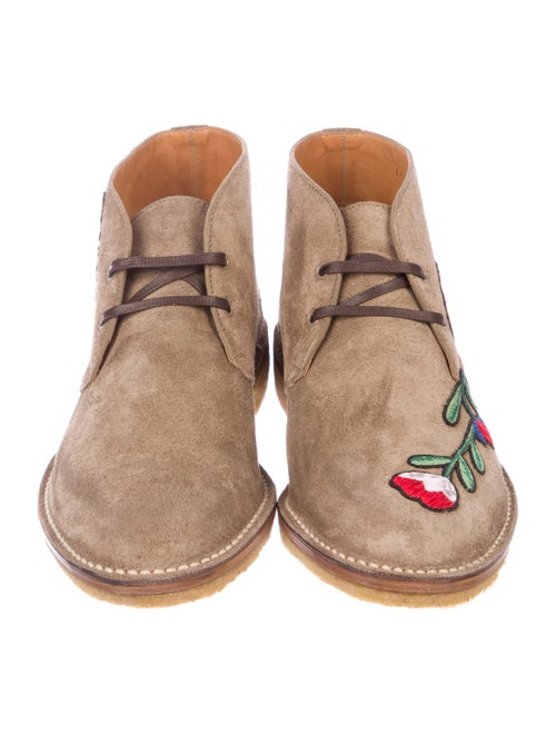 3bbea8966 Gucci New Moreau Embroidered Desert Boots w/ Tags - Shoes ...