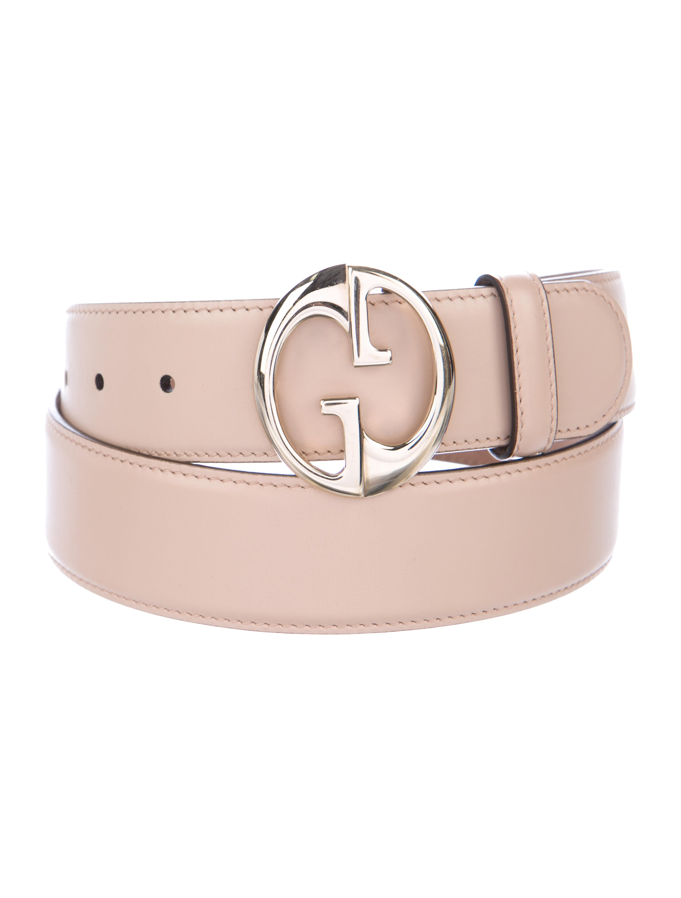Gucci Leather Logo Buckle Belt - Accessories - GUC194323 | The RealReal