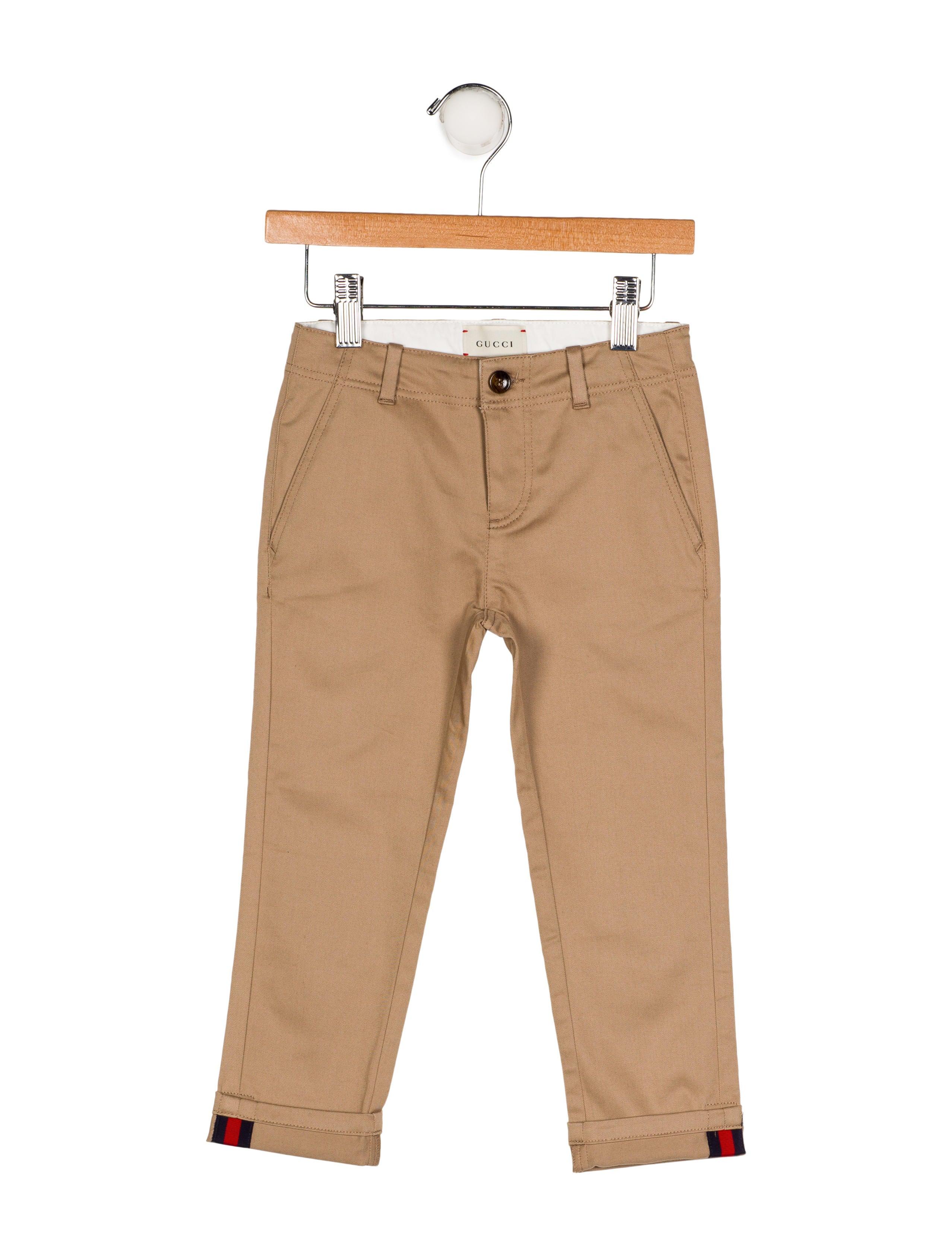 f6d96dffd Gucci Boys' Woven Straight-Leg Pants w/ Tags - Boys - GUC194705 ...