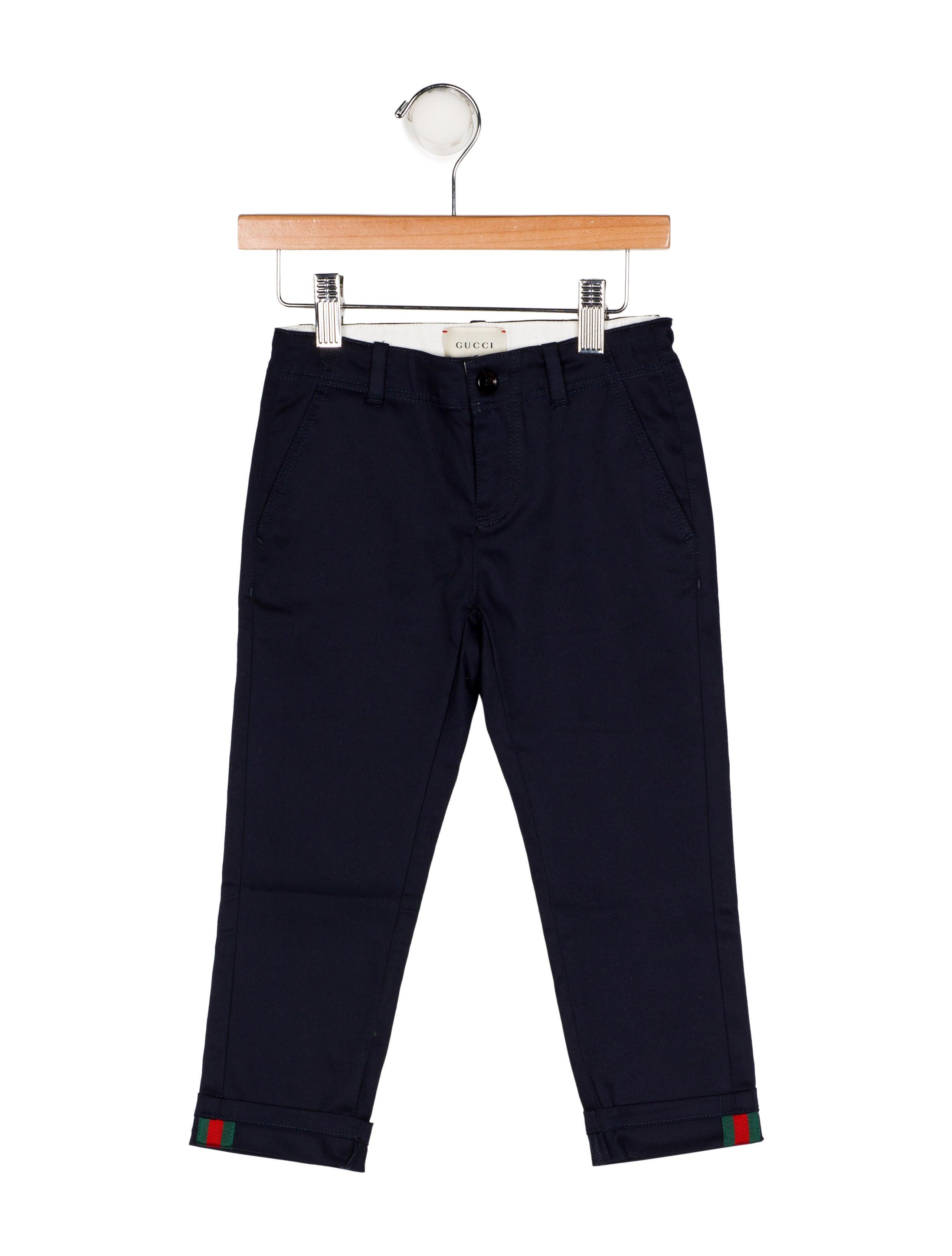 fb04ffc8d Gucci Boys' Woven Straight-Leg Pants w/ Tags - Boys - GUC194709 ...