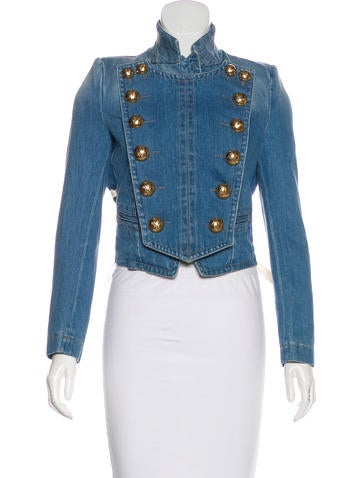 Denim Double-Breasted Jacket w/ Tags