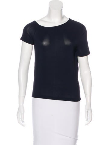 Gucci Short Sleeve Stretch Knit Top None