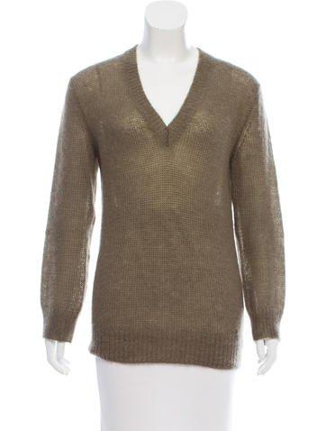 Gucci V-Neck Mohair Sweater None